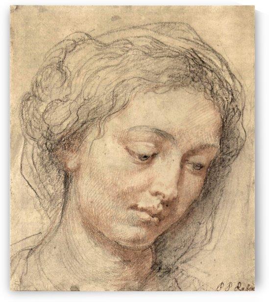 Head of a woman -2- by Rubens by Rubens