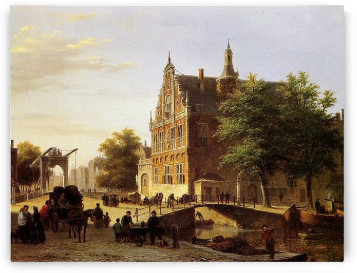 City view Sun by Bartholomeus Johannes van Hove
