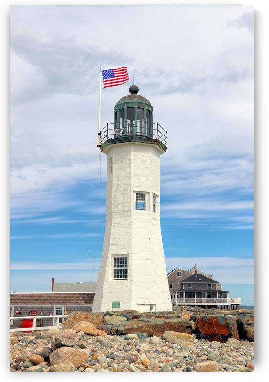 Scituate Light by Photography by Janice Drew