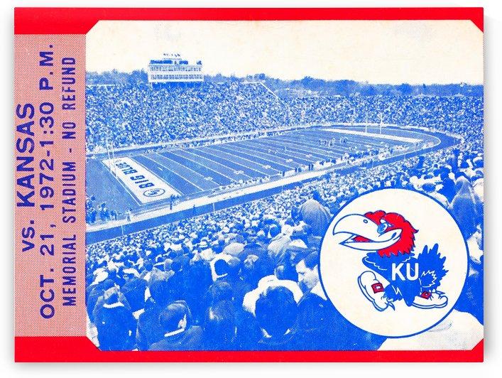 Kansas Ticket Stub Art by Row One Brand