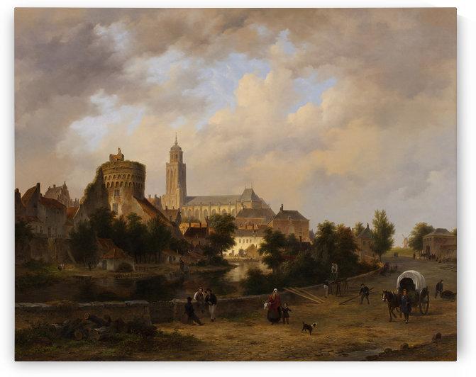 Gezicht op Deventer by Bartholomeus Johannes van Hove