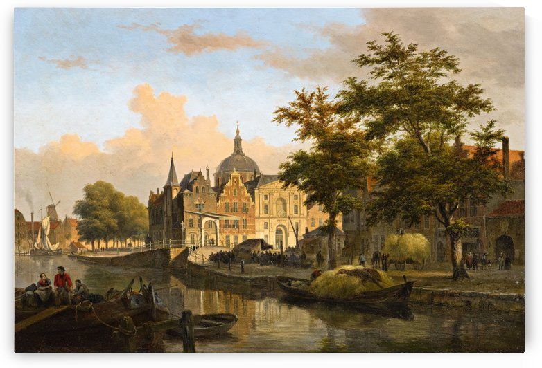 View of a Dutch City by Bartholomeus Johannes van Hove