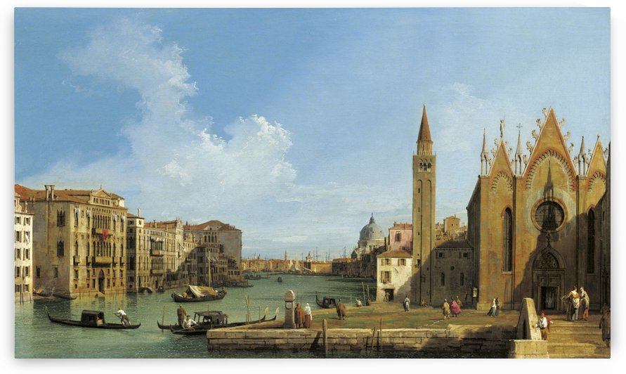 The grand canal by Canaletto