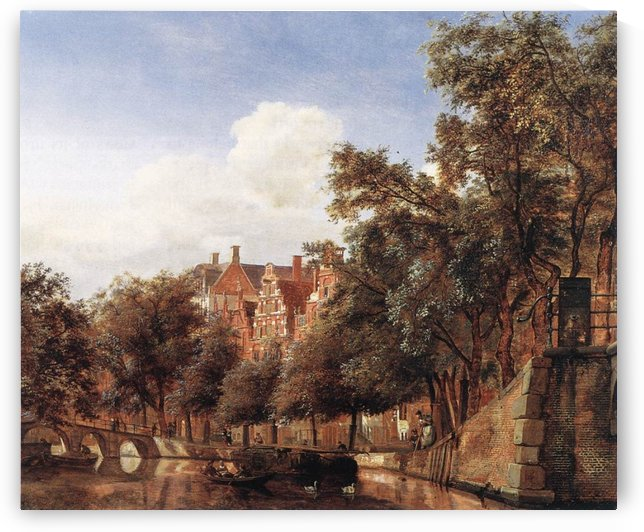 View of the Herengracht, Amsterdam by Bartholomeus Johannes van Hove