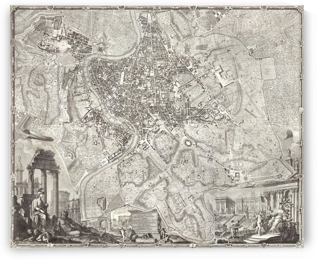 The Large Plan of Rome by Four Beautiful Sunsets