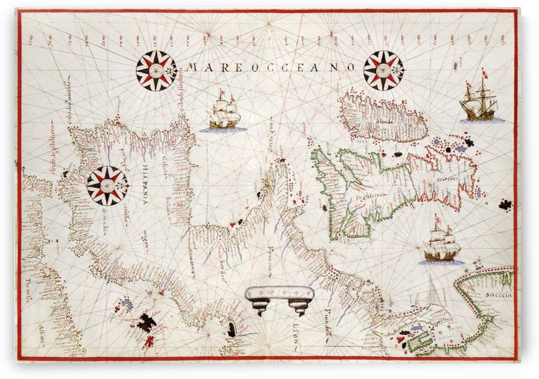 Mareo Oceano ca. 1590 by Four Beautiful Sunsets