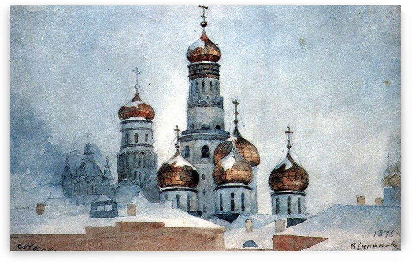 Belfry Ivan the Great by Vasily Surikov