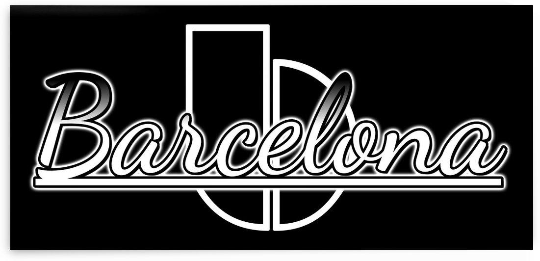 Barcelona Typography Graphic Design by xzendor7