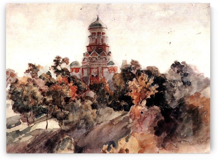 Church in the village Dyakovo by Vasily Surikov