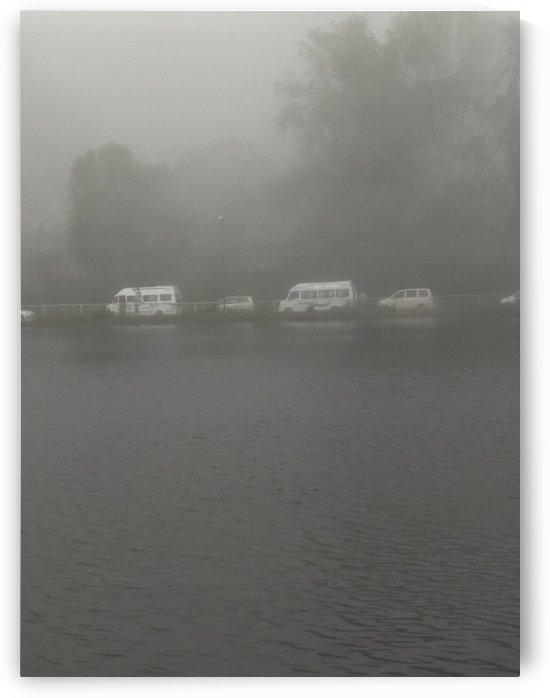 Kodaikanal Lake in the mist India by Sankar Srinivasan