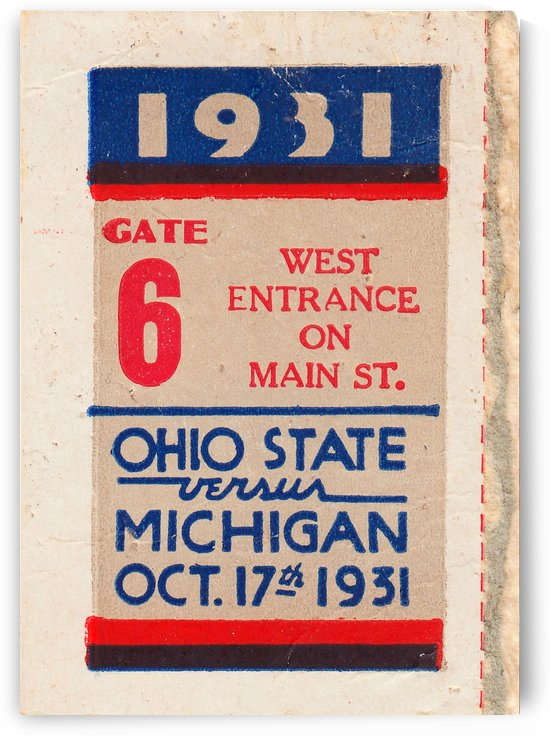 1931 Ohio State vs. Michigan by Row One Brand