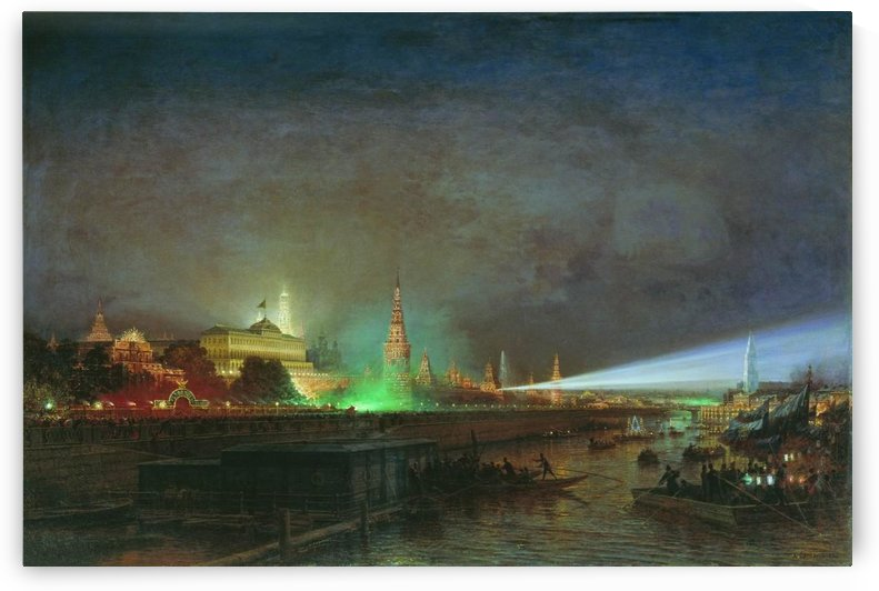 Illumination of the Kremlin by Alexey Bogolyubov