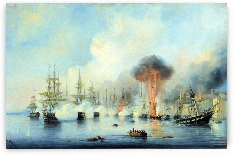 Battle of Sinop by Alexey Bogolyubov