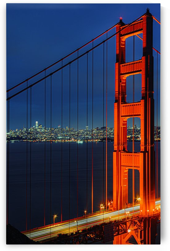 Golden Gate Bridge at Night by David Yoon