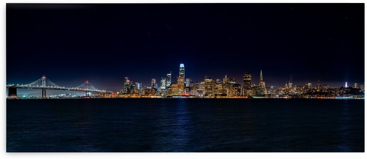 San Francisco City Skyline Panorama by David Yoon