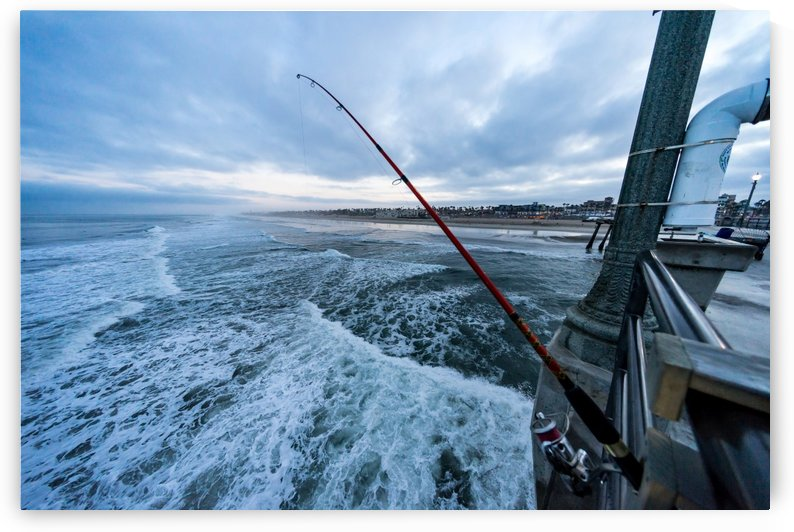 Fishing in Huntington Beach by David Yoon