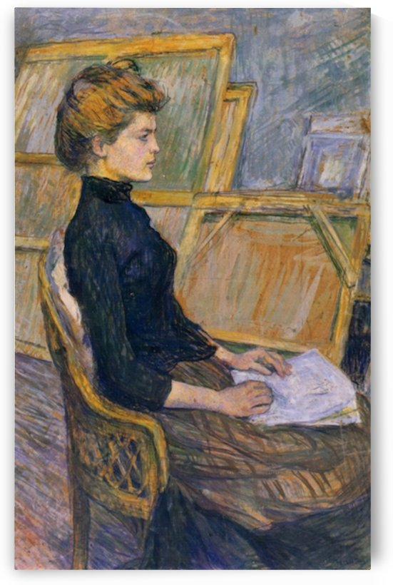 Helene Vary in the study by Toulouse-Lautrec by Toulouse-Lautrec