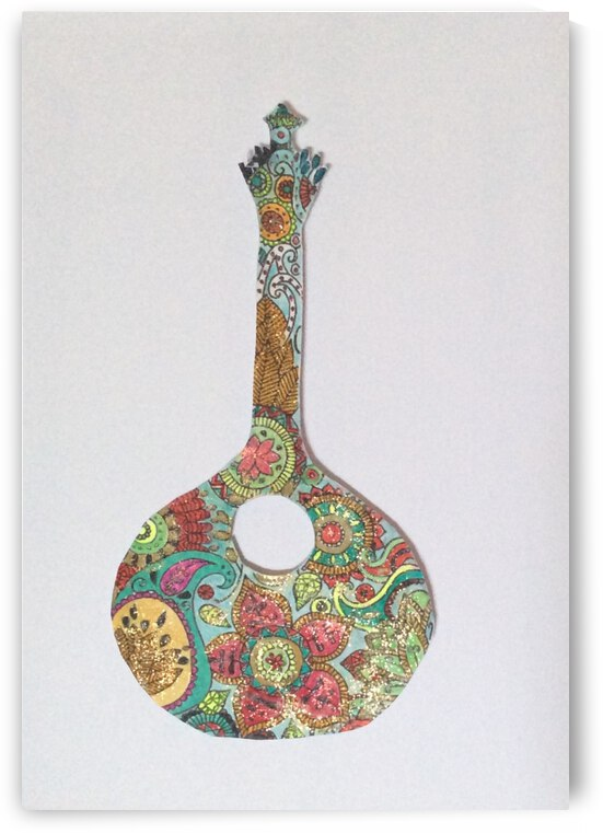 Portuguese Guitar  by Zaramar Paintings