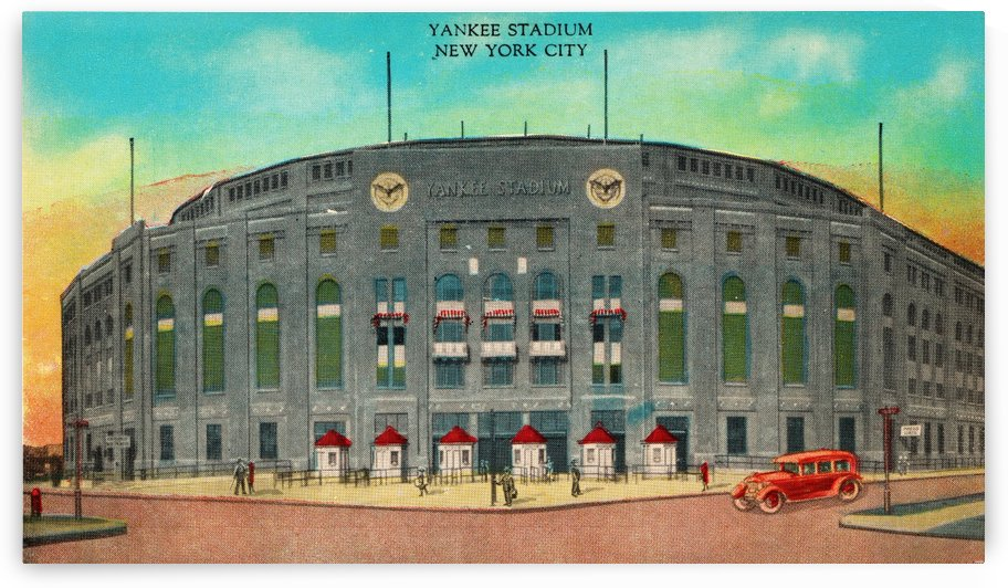 1935 Vintage New York Yankees Stadium Art by Row One Brand