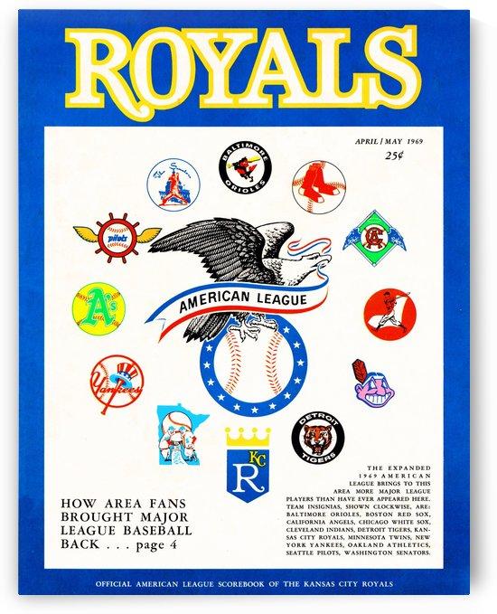 best vintage sports memorabilia kc royals 1969 scorecard by Row One Brand