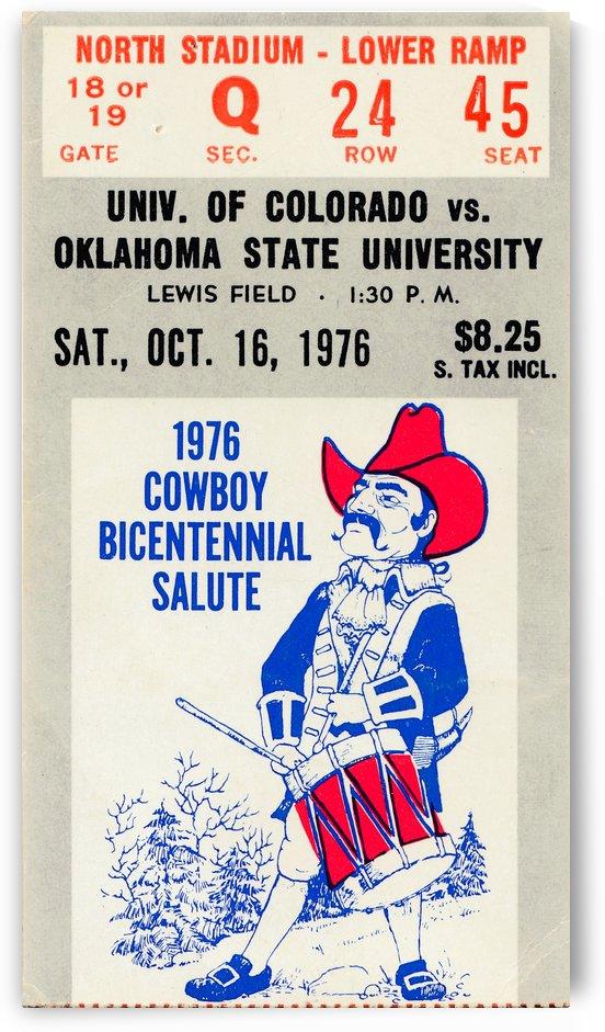 oklahoma state university osu cowboys wall art pistol pete by Row One Brand
