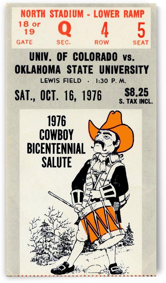 oklahoma state university osu cowboys wall art pistol pete poster by Row One Brand
