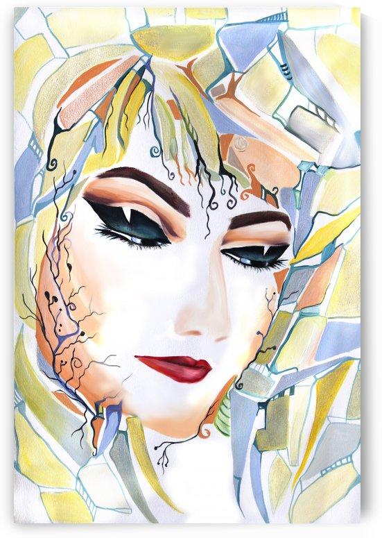 Chic Artistic Feminine Portrait by Nisuris Art
