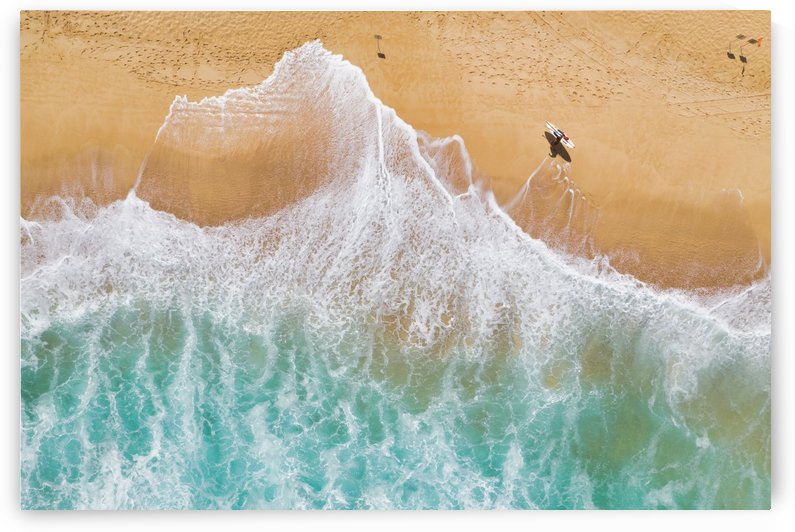 Surfer at Sunset Beach by Dave Tonnes