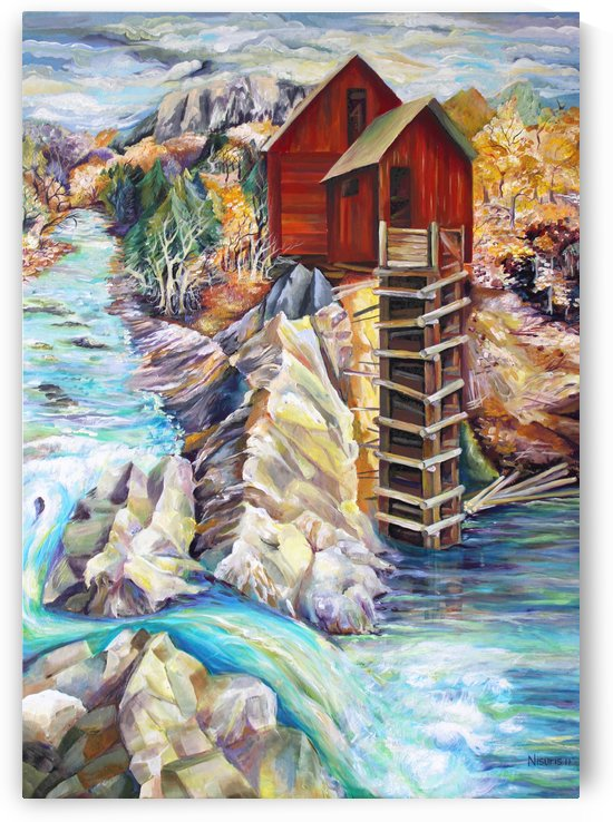 Colorado Rocky Mountains Crystel Mill River  by Nisuris Art