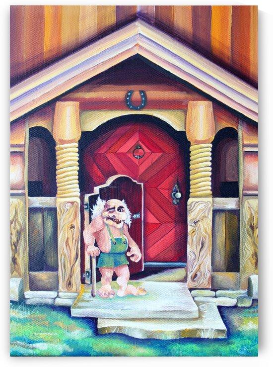 Scandinavian Folklore Troll Artwork  by Nisuris Art