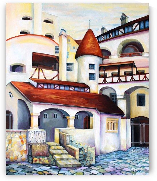 Romania Transylvania Dracula Castle  by Nisuris Art
