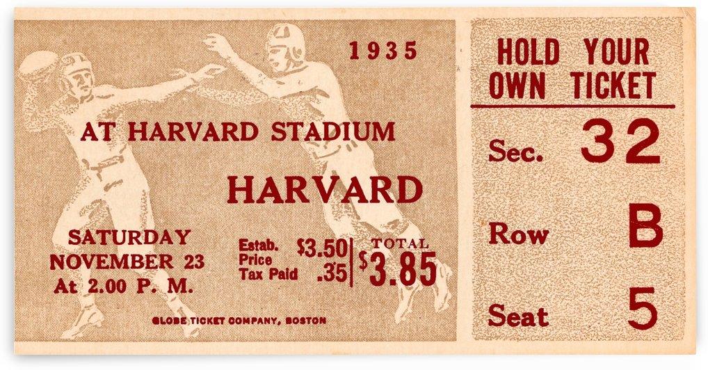 harvard football ticket art by Row One Brand