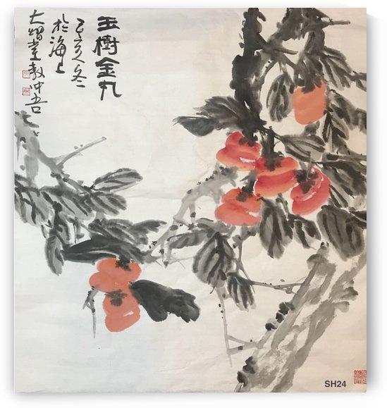 SH 24   Verdant Tree & Golden Balls    by Zhongwu