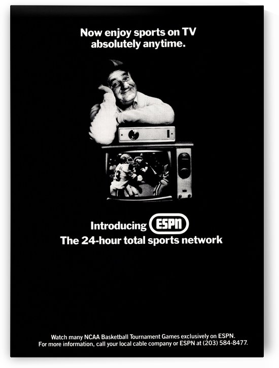 1981 ESPN Retro Ad Poster by Row One Brand