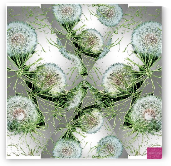 Dandelion Pattern 1 by BotanicalArt ca