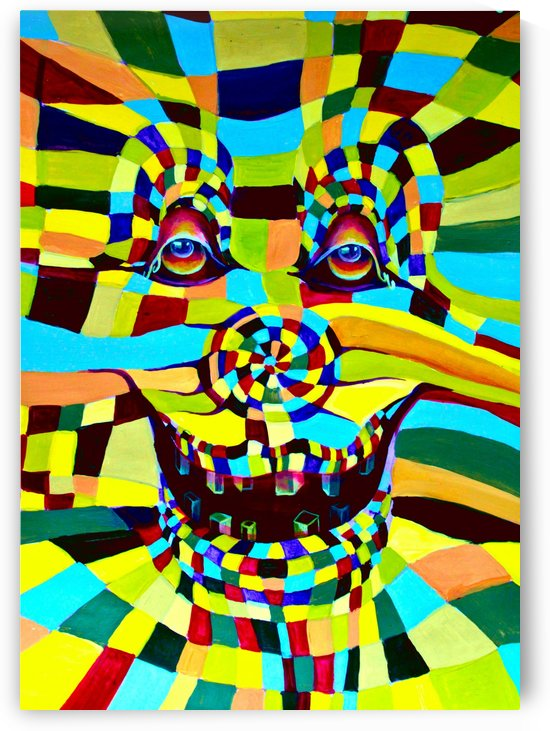 Watecolor Contermporary Pop Surrealism Clown  by Nisuris Art