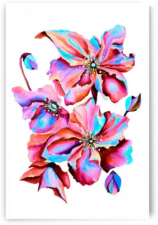 Himalaya Hot Fushia Poppies by Nisuris Art