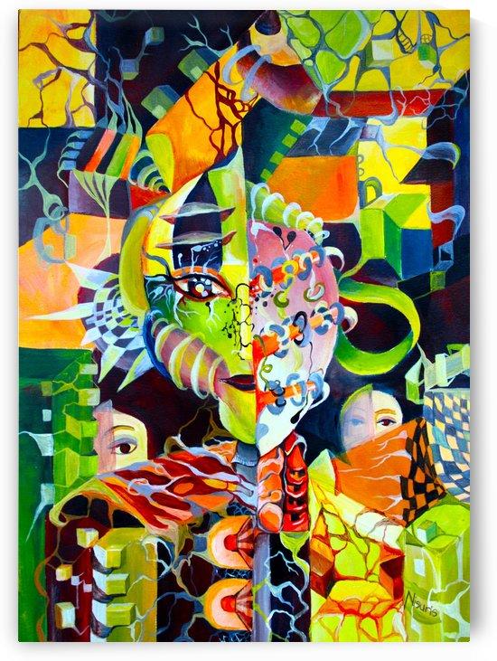 Pop Currealism Contemporary Vivid Utopia by Nisuris Art