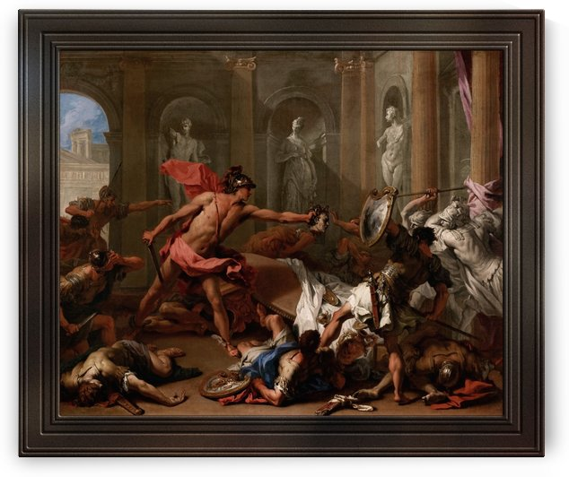 Perseus Confronting Phineus with the Head of Medusa by Sebastiano Ricci by xzendor7