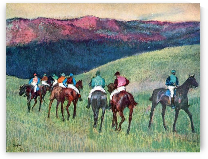 Horse racing -The training by Degas by Degas