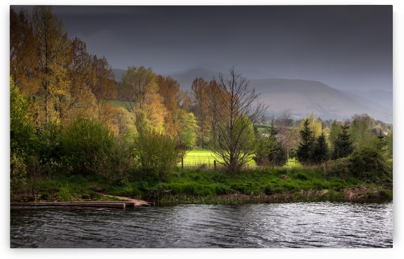 Brecon Beacons and river Usk by Leighton Collins