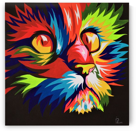Colorful cat by Iulia Paun ART Gallery