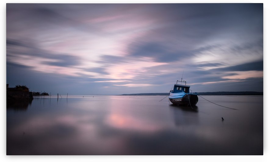 Loughor estuary boat by Leighton Collins