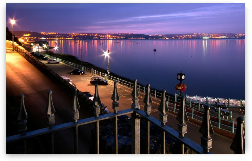Swansea Bay at night by Leighton Collins