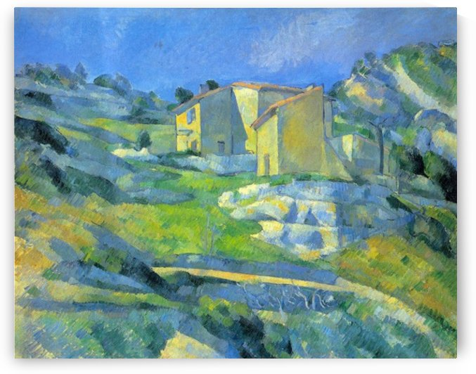 House in the Provence by Cezanne by Cezanne