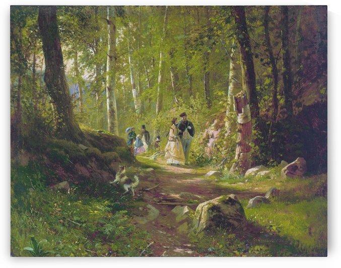 A Promenade in the Woods by Ivan Shishkin