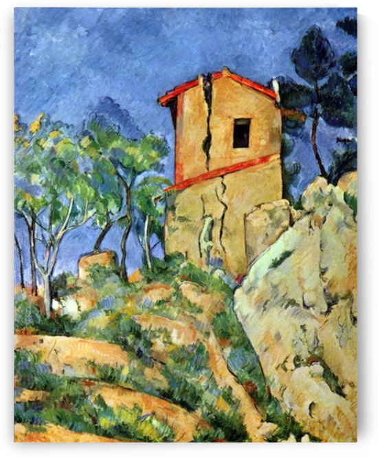 House with Walls by Cezanne by Cezanne