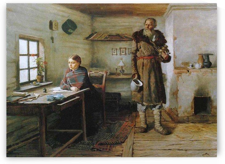 Rural teacher by Konstantin Trutovsky