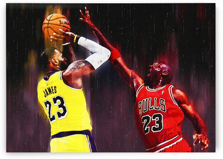 Lebron James disarms Michael Jordan by Gunawan Rb