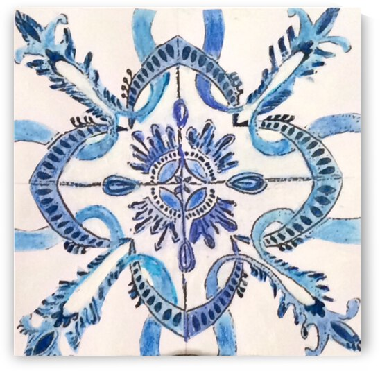 Portuguese Azulejos  by Zaramar Paintings